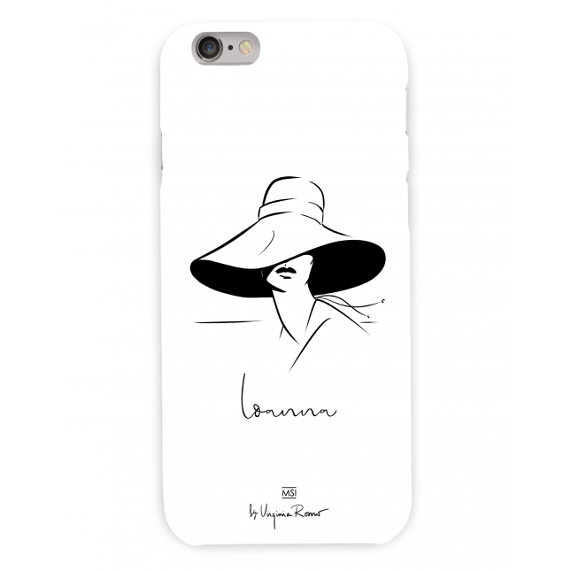 Lady in Hat Personalized Case | Virginia Romo