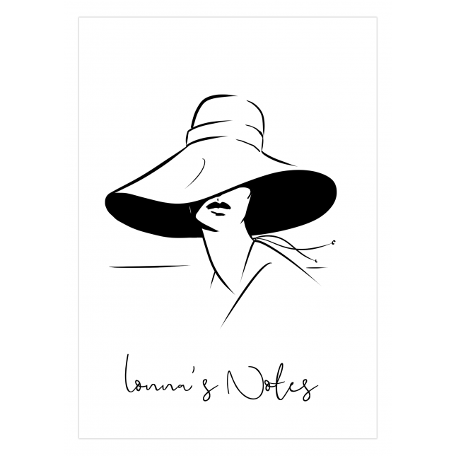 Lady in Hat Personalized Notebook   Virginia Romo