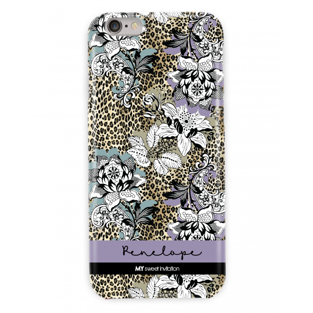 Leopard Floral Purple Case