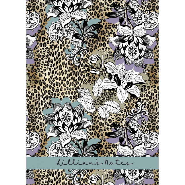 Leopard Floral Relish Personalized Notebook/Agenda