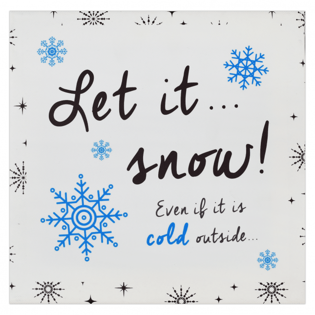 Let it Snow Christmas Frame