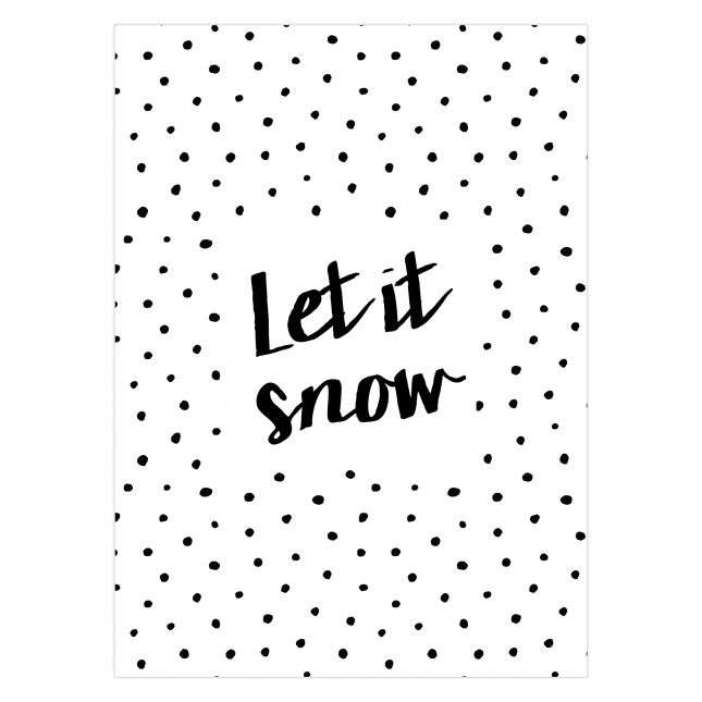 Let it Snow Folded Greeting Card