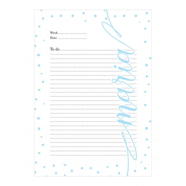 Light Blue Dalmatian Personalized Planner