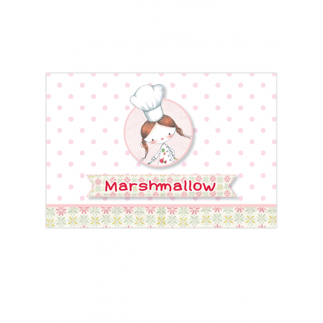 Little Girl Chef Table Tags