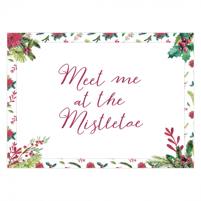 Mistletoe Tent Greeting Card
