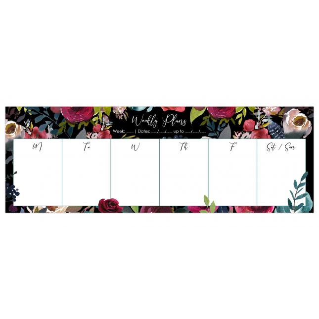 Merlot - Black   Desk Weekly Planner