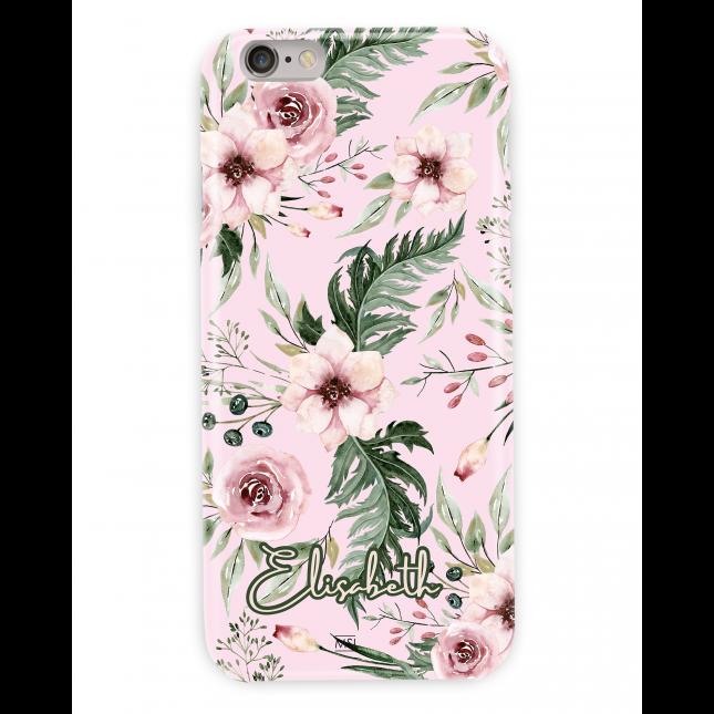 British Garden Personalized Pink Case