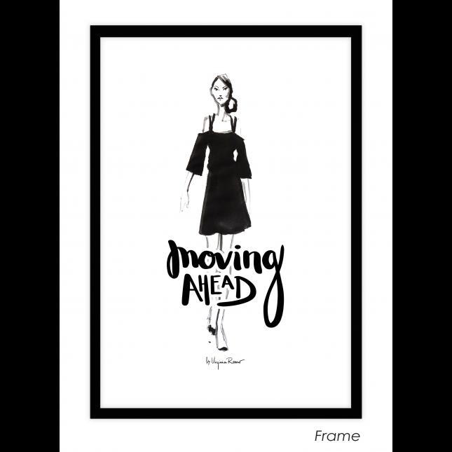 Moving Ahead Art Print | Virginia Romo
