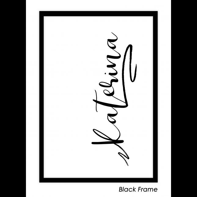 My Name, My Story Art Print