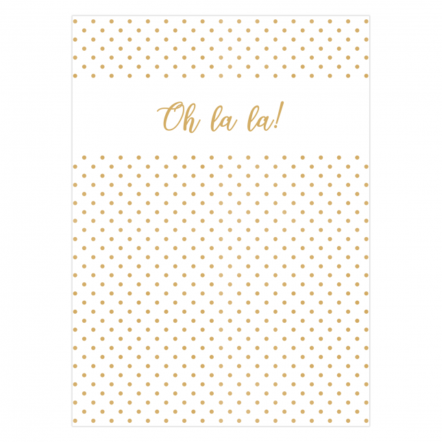 Oh la la Folded Greeting Card