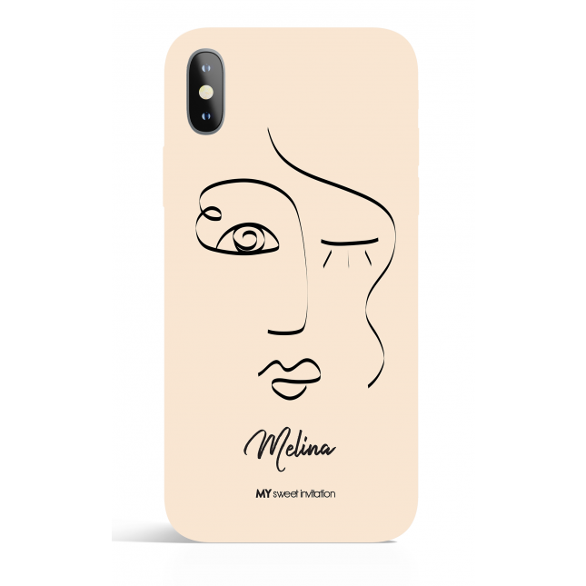 One Line Face Bez 24 Personalized Art Phone Case