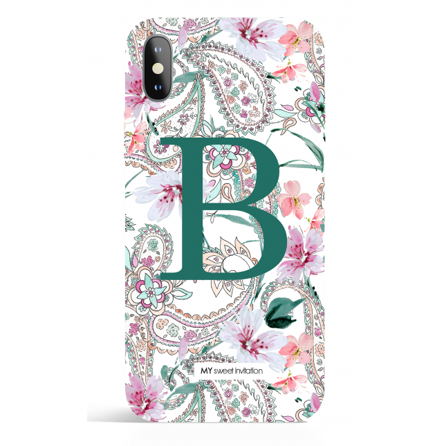 Paisley Monogram Green Phone Case