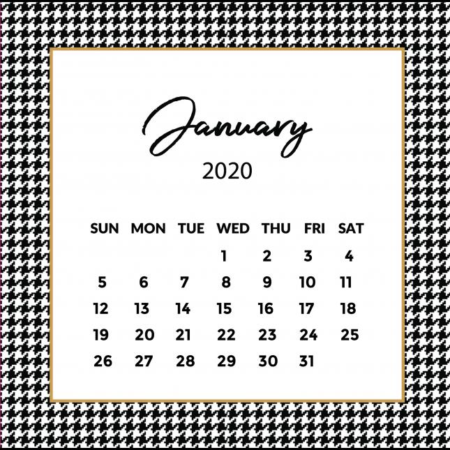 Pie de Pule Calendar 2020   The Desk Calendar