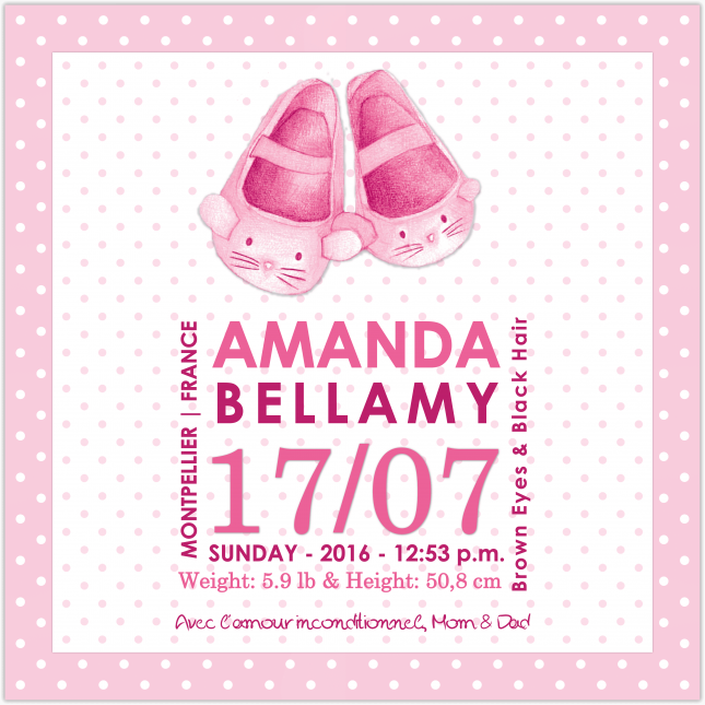 Pink Baby Shoes Canvas Frame