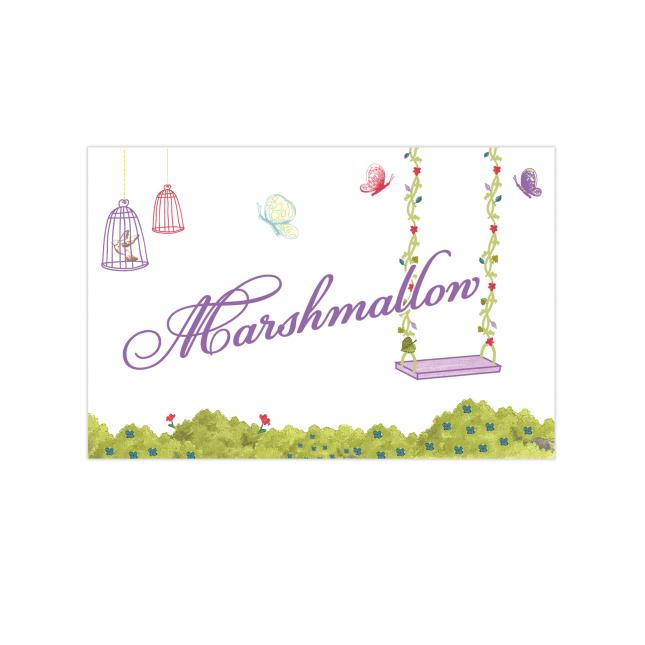Purple Fairy Table Tags