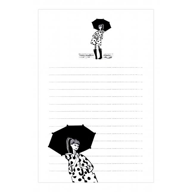 Rainy Days Notepad | Virginia Romo