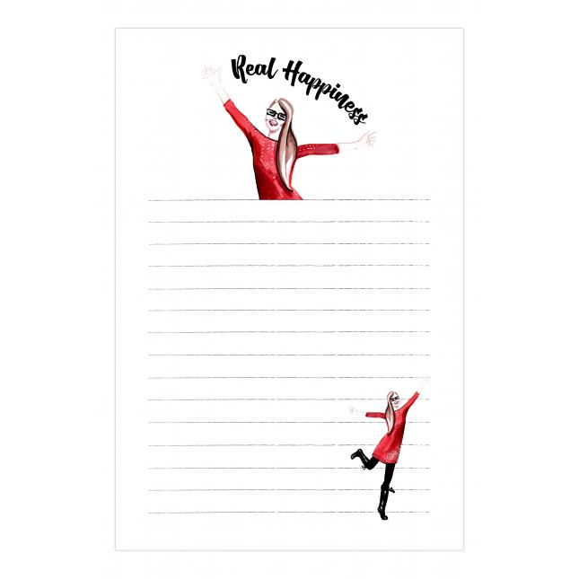 Real Happiness Notepad | Virginia Romo