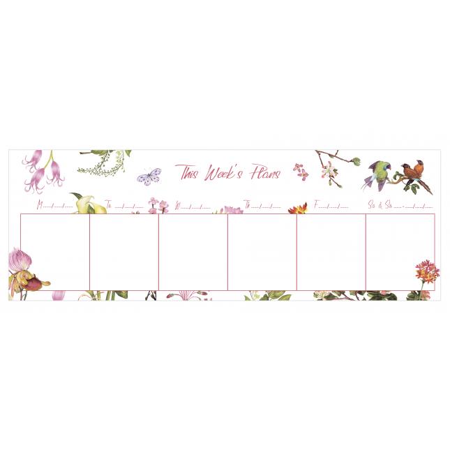 Secret Garden   Desk Weekly Planner