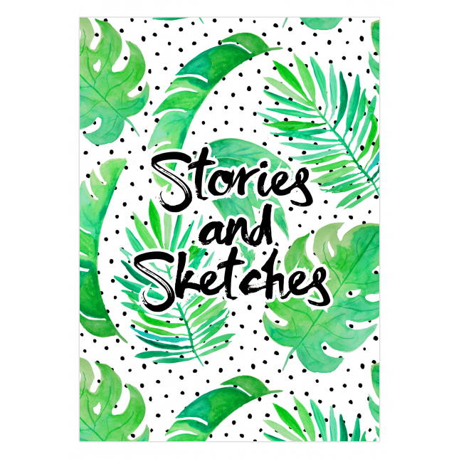 Palms & Dots Notebook/Sketchbook