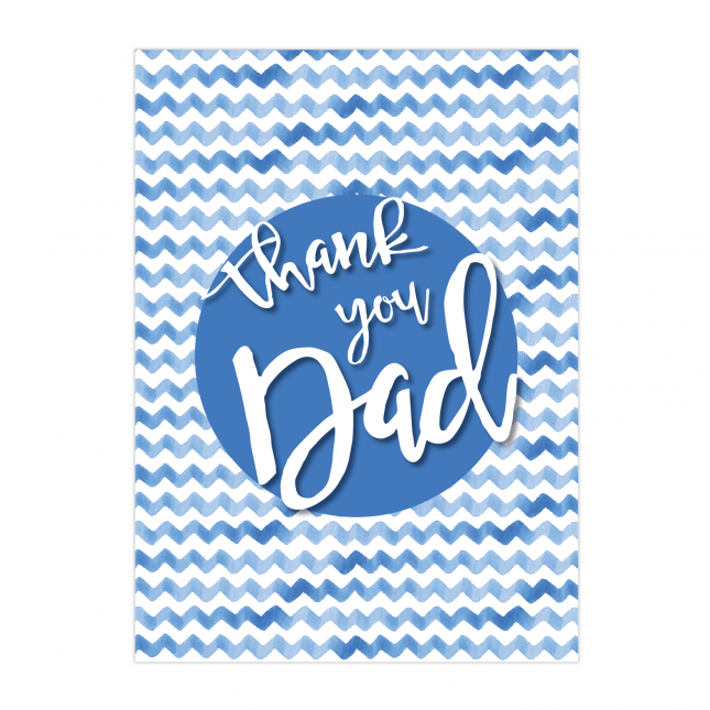 Thank you Dad Folded Greeting Card