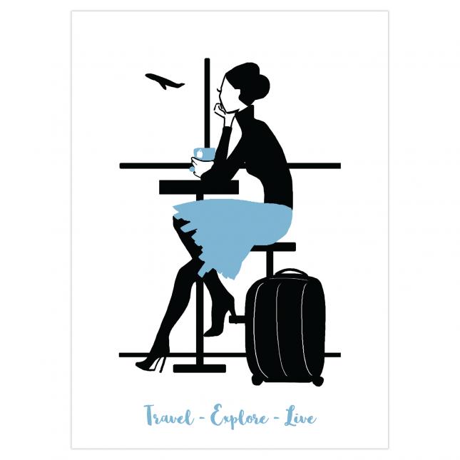 Travel & Live Folded Greeting Card | Virginia Romo