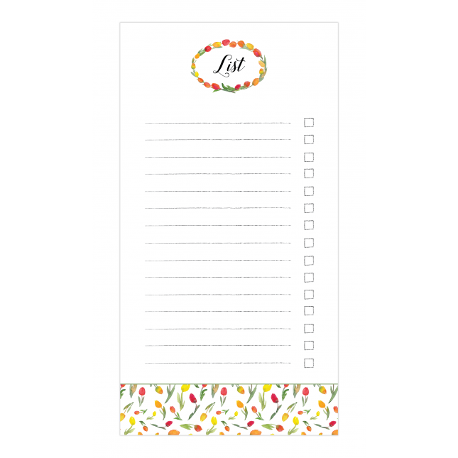 Tulips Checklist Notepad