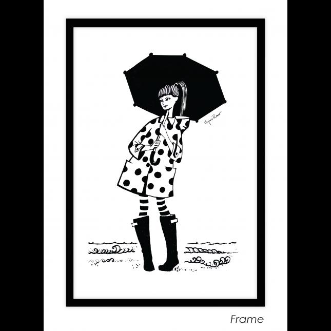 Under my Umbrella Art Print | Virginia Romo