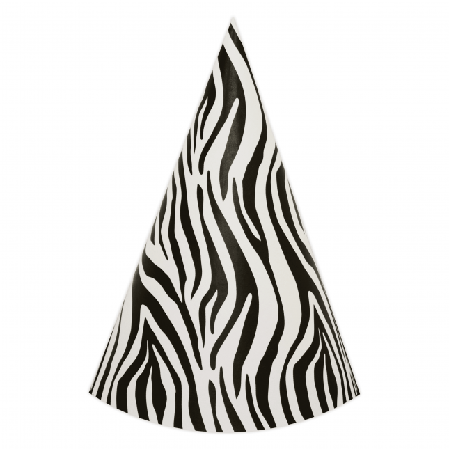 Zebra DIY Party Hats