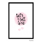Let's Fall in Love Art Print