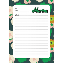 70s Modern Vintage Green Green Personalized Weekly Planner