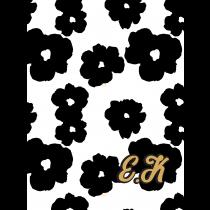 70s Modern Vintage_Black White Notebook | Agenda