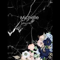 Black Marble Evening Garden Notebook/Agenta