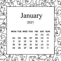 Faces Calendar 2021 | The Desk Calendar