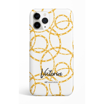 Chains Rings White Personalized Phone Case