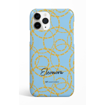 Chains Rings Cyan Personalized Phone Case