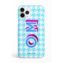 Spring Cyan Pie de pule Monogram Phone Case