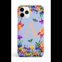 Eden Garden Cyan Monogram  Phone Case