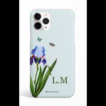 Eden One Flower Cyan Monogram Phone Case