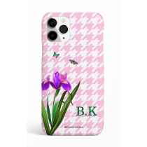 Eden Pink Pie de pule Monogram Phone Case