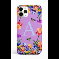 Eden Garden Purple Monogram Phone Case