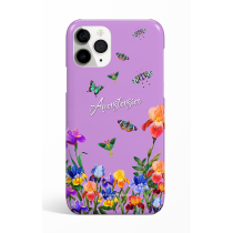 Eden Purple Butterfly Personalized  Phone Case