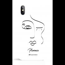 One Line Woman Face  22  Art Phone Case