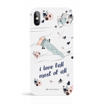 I Love Fall most of all  Phone Case