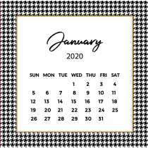 Pie de Pule Calendar 2020 | The Desk Calendar