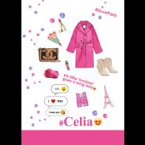 PINK TRENCH COAT I Love Paris Notebook |  Agenda