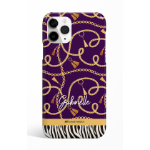 Chains Zebra Purple Personalized Phone Case