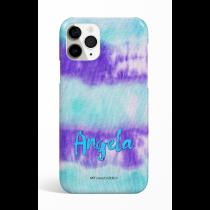 Tie Dye Cyan Puprle  Phone Case