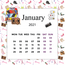I Love Paris Calendar 2021 | The Desk Calendar
