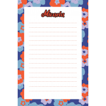 70s Colorblock Purple Personalized Notepad