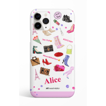 I Love Paris Accesories Pink Phone Case